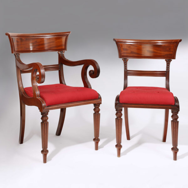 A Set of 12 Mahogany William IV Dining Chairs. Circa 1830