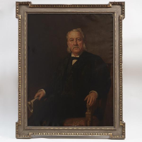 Portrait of Dewitt Clinton Blair, Oil on Canvas by Jennie S. Loop 1894