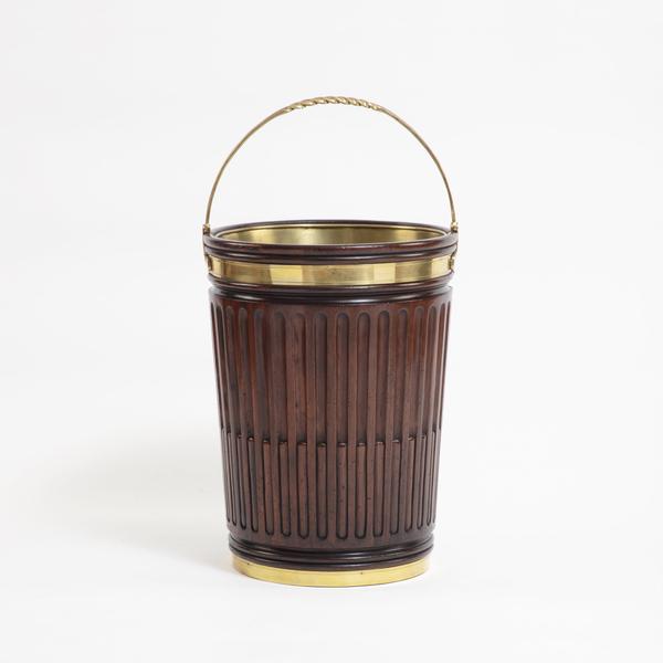 Mahogany Fluted Peat Bucket in George III Style