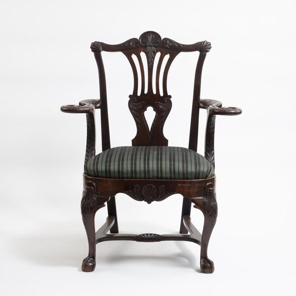 Irish Mahogany Armchair by Butler of Dublin Circa 1830