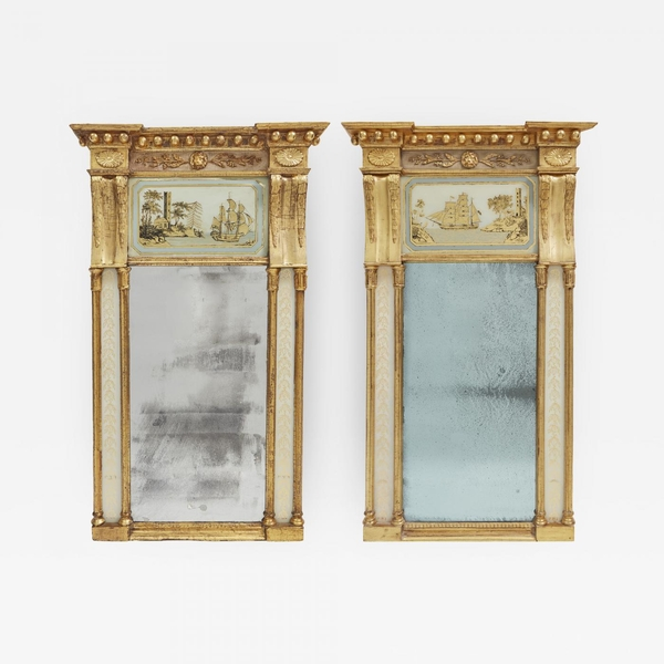 Pair of American Federal Giltwood Mirrors